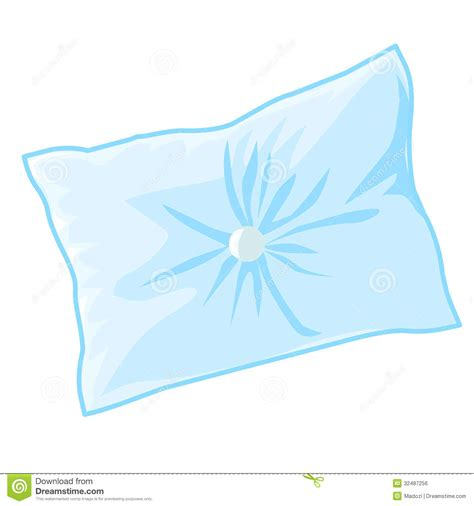 Blue Pillow Royalty Free Stock Image   Image: 32487256