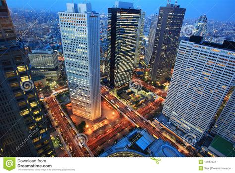 Floor Plan In 3d by Tokyo City Night Aerial Japan Stock Photography Image