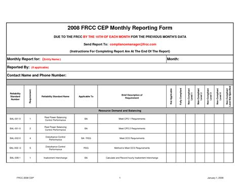 monthly report template excel best photos of monthly report template monthly report