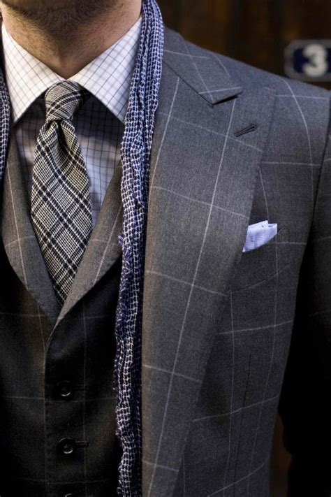 pattern shirt with dark gray suit windowpane pattern worth trying parisian gentleman