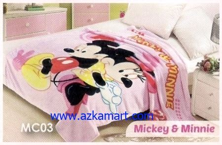 Selimut Soft Lch Minnie Mouse selimut gambar kartun toko selimut balmut sprei dan bed