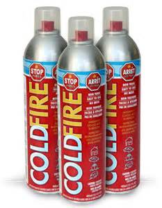Car Paint Spray Cans - cold fire suppressant and fire extinguisher