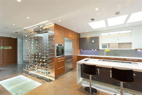 Dark Blue Kitchen Cabinets built in kitchen wine rack kitchen contemporary with glass