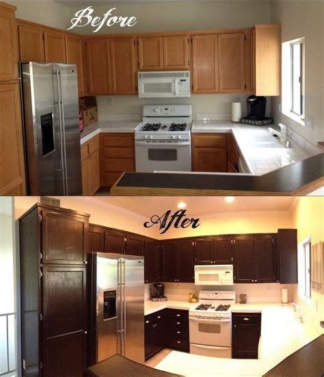 stains for kitchen cabinets how to gel stain your kitchen cabinets when my husband and