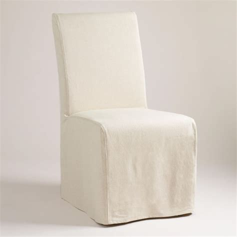 world market dining chair slipcovers linen long anna chair slipcover chair slipcovers