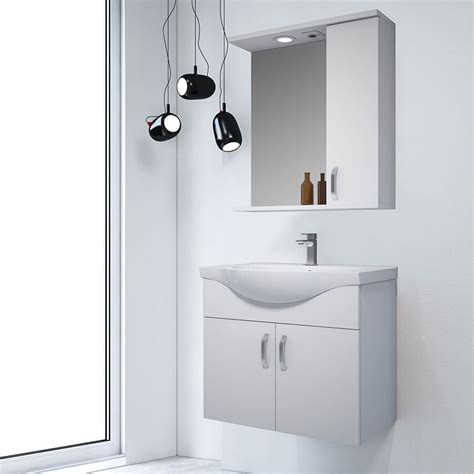 sacra beyaz asma banyo dolabi  cm banyo dolap