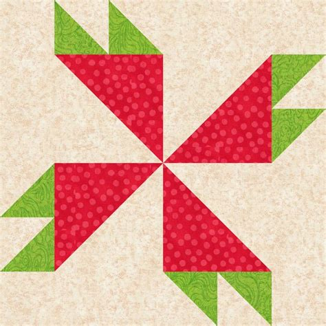 Patchwork Block Patterns - 12 quot patchwork rosebud quilt block pattern