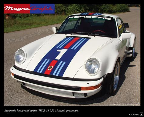 Porsche 911 Martini Aufkleber by Magnetic And Vinyl Graphics And Decals For Porsche