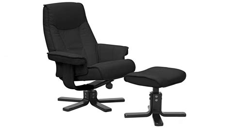 recliner chairs australia taby leather recliner and footstool pitch black
