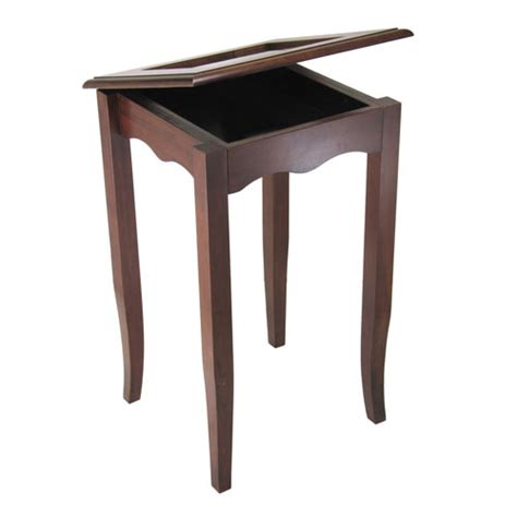 walnut accent table carisa accent table antique walnut in accent tables