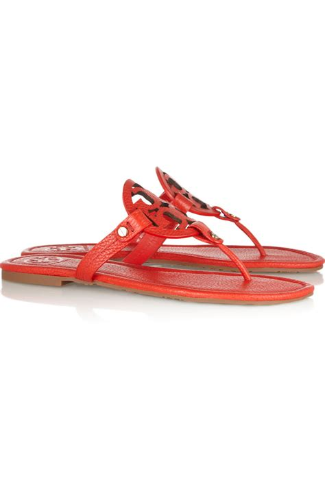 toryburch sandals burch miller textured leather sandals in lyst