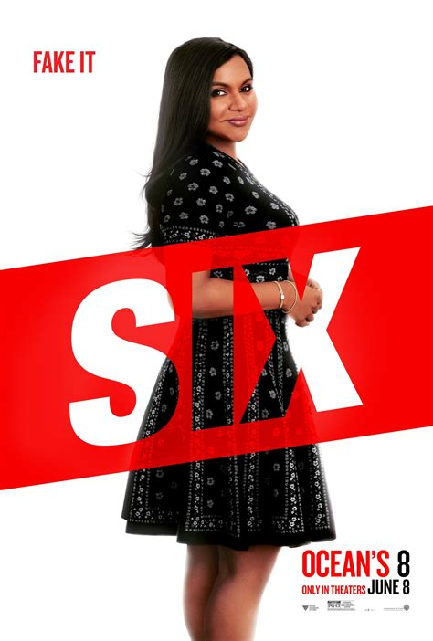 mindy kaling quiz ocean s 8 images ocean s 8 character poster mindy