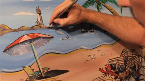 how to draw a beached boat how to paint a beach painting palm trees boats landscape