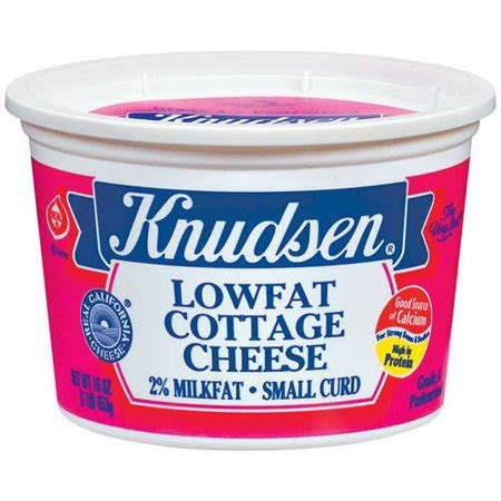 cottage cheese curd knudsen lowfat small curd cottage cheese 16 oz walmart