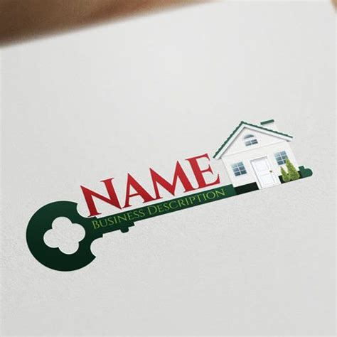 house and key real estate exclusive design house key logo free business card
