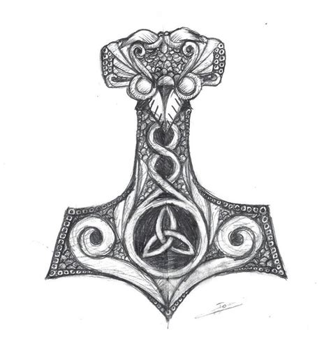 mjolnir tattoo 1000 ideas about thor hammer on thors