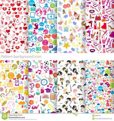 icon pattern background free pattern background icon stock vector image 38894723