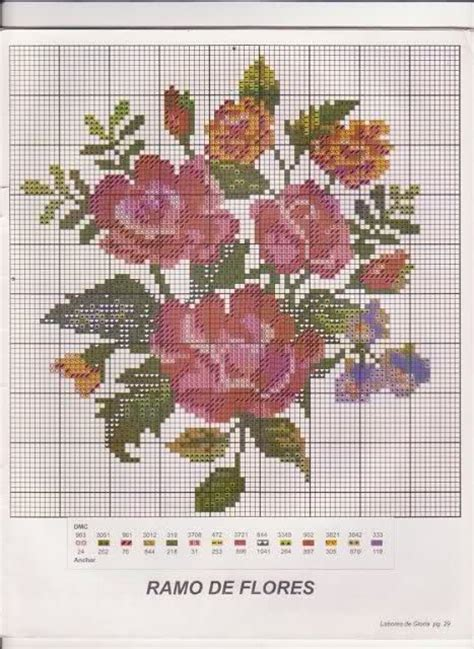 patrones para bordado en punto cruz de rosita fresita en punto de cruz flores rosas patrones gratis imagui