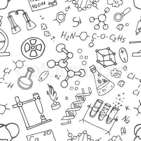 how to make a doodle sign up doodle pattern chemistry science background
