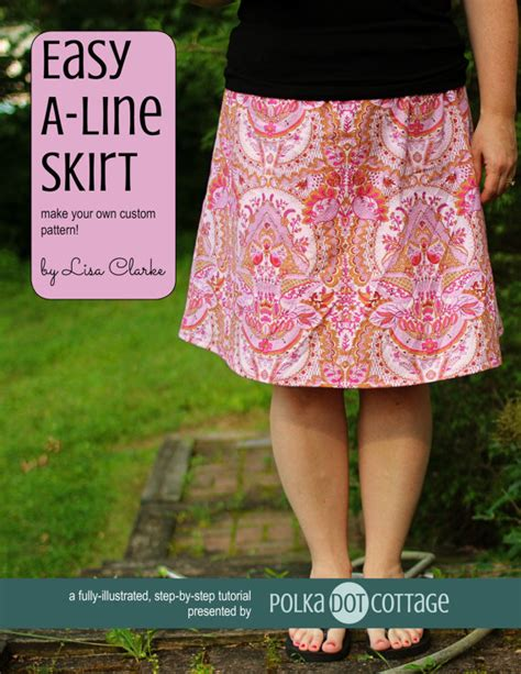 simple pattern a line skirt easy a line skirt sewing pattern and tutorial