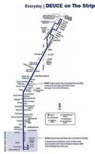 Las Vegas Deuce Map by Citizens Area Transit Cat Bus System Images Frompo