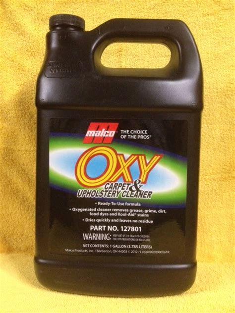oxy carpet and upholstery cleaner malco oxy carpet upholstery cleaner 1 gallon