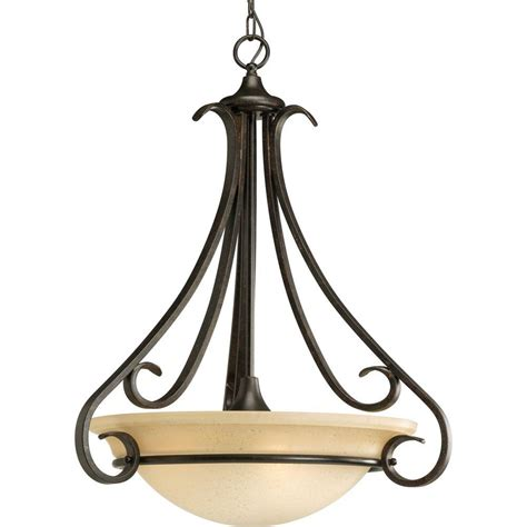 Progress Lighting Torino Collection 3 Light Forged Bronze Entryway Pendant Lighting
