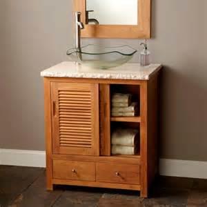 30 quot arrey teak vessel sink vanity teak bathroom