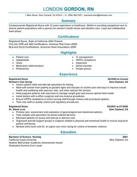 Registered Duties Resume by Best Registered Resume Exle Livecareer