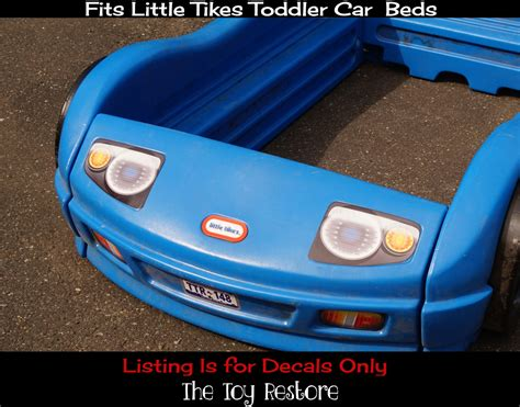 little tikes toddler car bed replacement decals fits little tikes blue toddler car bed thetoyrestore com
