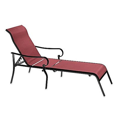 outdoor reclining chaise lounge indoor outdoor oversized adjustable sling chaise