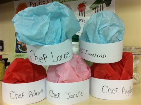 Paper Chef Hat Craft - chef hats for community helper theme and chef day and