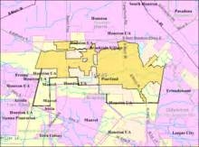 houston map pearland