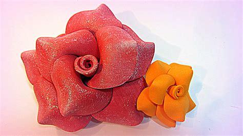 Tutorial Flores De Goma Eva Foami | tutorial flores de goma eva foami youtube