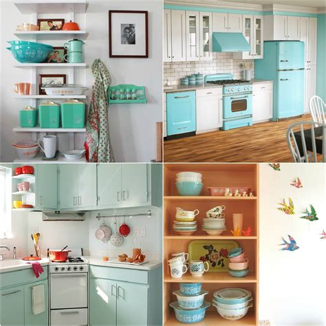 pyrex art for a retro kitchen dans le lakehouse
