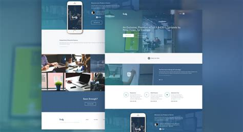 30 One Page Website Templates Built With Html5 Css3 Templateflip Modern Bootstrap Templates