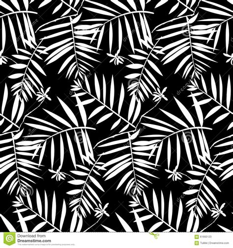 nature pattern black and white tropical floral pattern stock vector image 61665123