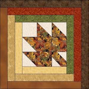 maple leaf log cabin quilt block by feverishquilter craftsy