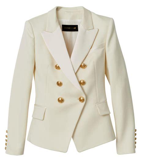 M Blazer balmain x h m white blazer what s haute
