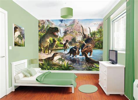 wandbilder kinderzimmer junge fototapete kinderzimmer dinosaurier park t rex walltastic