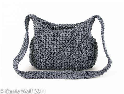 Line Pattern Bag crochet purse pattern carriewolf net