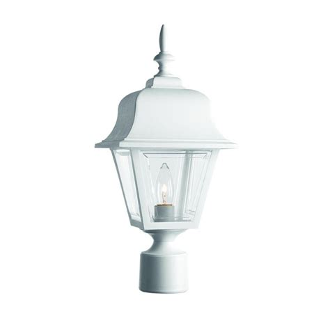 Homedepot Outdoor Lighting Hton Bay 3 White Outdoor Post Light Hb7017p 06 The Home Depot