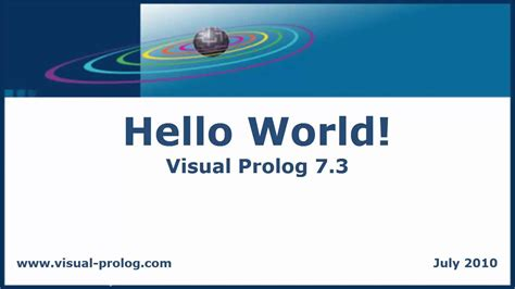 prolog applications of prolog youtube hello world directors voice visual prolog 7 3 ide