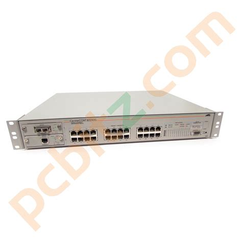 Switch Allied Telesyn 24 Port allied telesyn at 8224xl 24 port fast ethernet switch at a15 at a14 modules 10 100 mbps switches