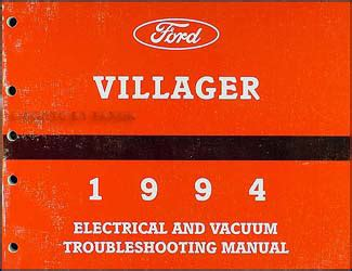 how to download repair manuals 1994 mercury villager navigation 1994 mercury villager electrical and vacuum