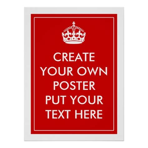 design free keep calm poster create your own poster zazzle
