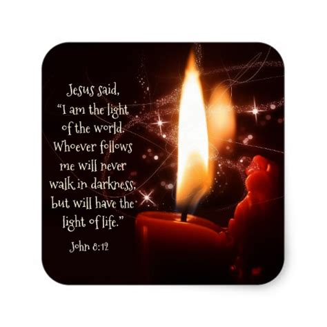 jesus light of the world psalm 8 bible christmas square
