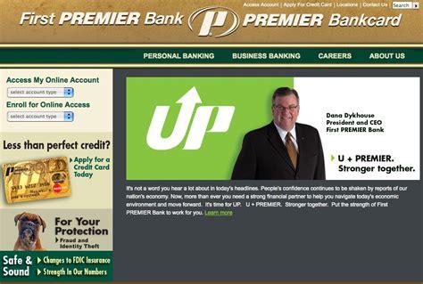premiere bank premier bank card account access infocard co
