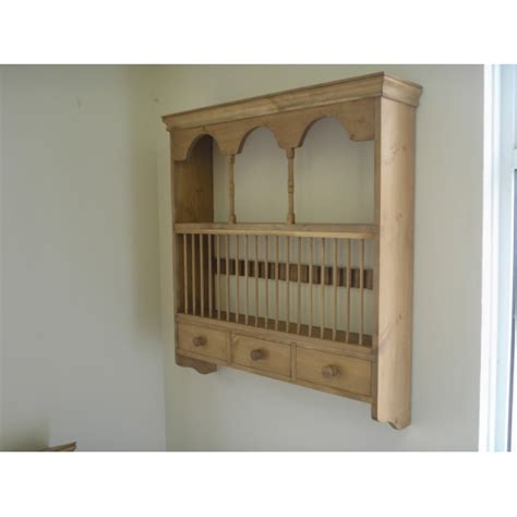 Pine Plate Racks For Kitchens by Fancy Country Pine Wall Plate Rack