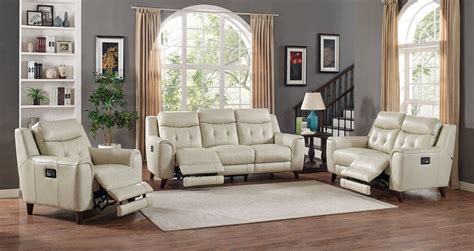 reclining living room furniture sets paramount leather power reclining living room set